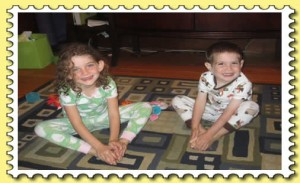 Sister and Brother Butterly Pose, Yoga For Kids
